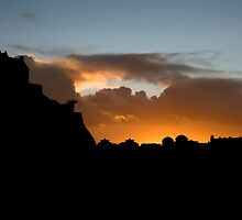 Sunset Silhouette by Evanickelbridger