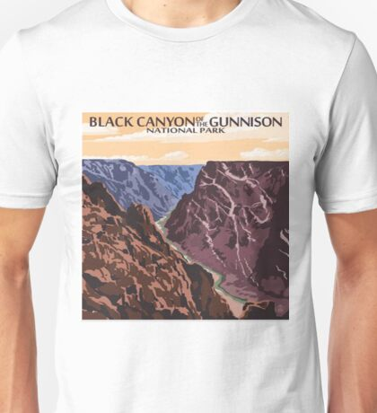 Black Canyon of the Gunnison National Park Colorado Vintage Decal Unisex T-Shirt
