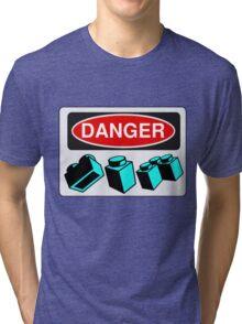 Danger Bricks Sign Tri-blend T-Shirt
