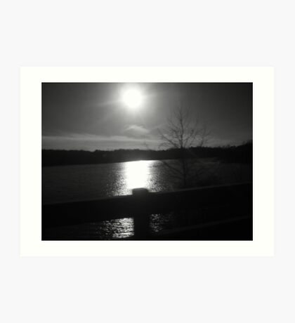 price lake black and white Art Print