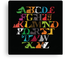 Alphabet zoo Canvas Print
