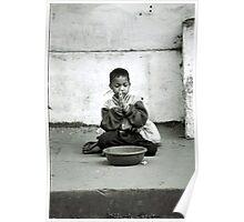 boy begging Poster
