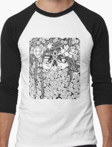 Flower Bed Men's Baseball ¾ T-Shirt