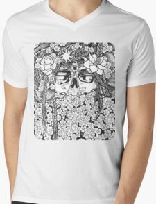 Flower Bed Mens V-Neck T-Shirt