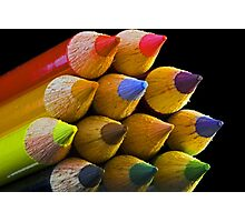 Coloured Tips Photographic Print