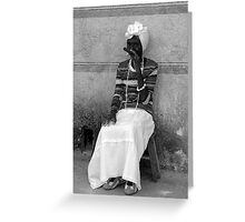 woman with cigar Greeting Card