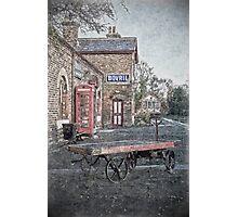 Vintage Hadlow Road in Oils Photographic Print