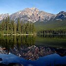 Pyramid lake and mountain by Christopher B Smyth