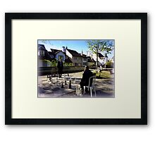 Playing Chess in Zurich Framed Print