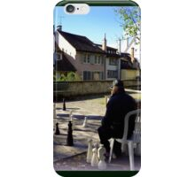 Playing Chess in Zurich iPhone Case/Skin
