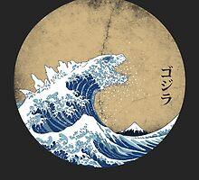 Hokusai Kaiju - Vintage Version by Mdk7