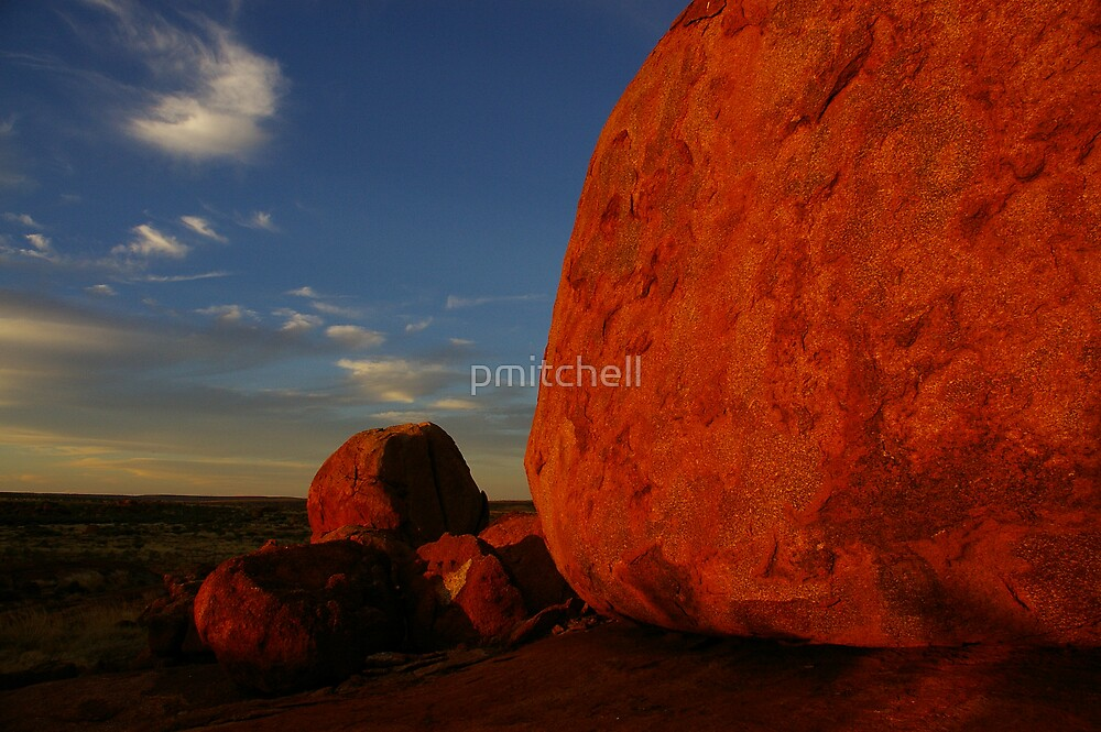 Sunset at Devil's Marbles, Northern Territory by pmitchell
