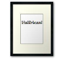Halfrican! Framed Print