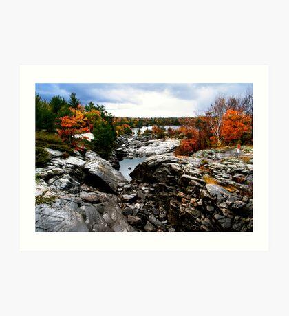 Muskoka at fall Art Print