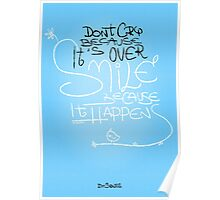 Don't Cry Because It's Over Poster