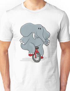 Cyclists Elephant Unisex T-Shirt