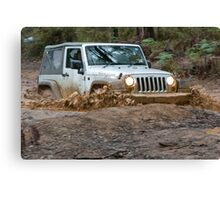 Jeep Wrangler Rubicon in the mud Canvas Print