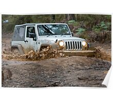 Jeep Wrangler Rubicon in the mud Poster