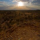Outback sunset by robertp