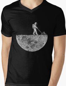 Man And The Moon Mens V-Neck T-Shirt
