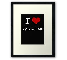 I love Heart Cameroon Framed Print