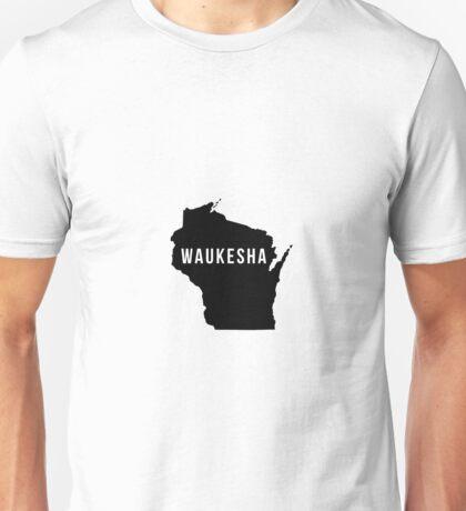 Waukesha, Wisconsin State Silhouette Unisex T-Shirt