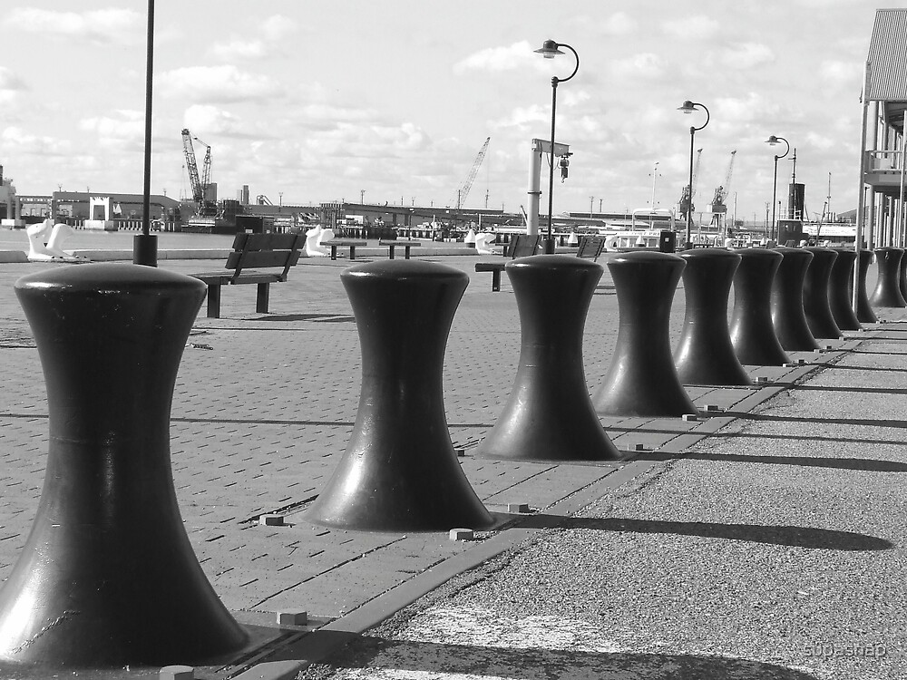 Little Black Bollards by supasnap