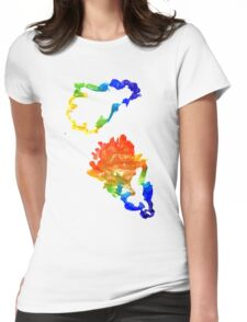 Colorful Oak Leaves Womens Fitted T-Shirt
