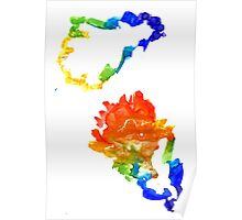 Colorful Oak Leaves Poster