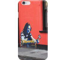 Cork Ireland Street art boy flower red black iPhone Case/Skin