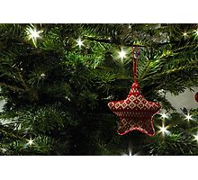 Knitted star Photographic Print