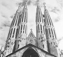 Sagrada Familia Pencil Drawing by onlypencil