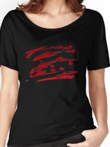 Red Ink Splash Women's Relaxed Fit T-Shirt