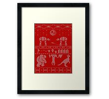 Merry X-Wing! Framed Print