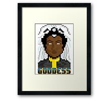 "8 Bit Headshots ""Goddess 2"" Framed Print"