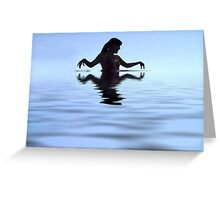 Water Woman Greeting Card