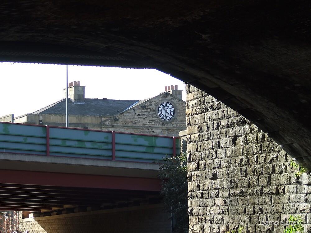 Sheaf Quay building clock by barnsleysteve