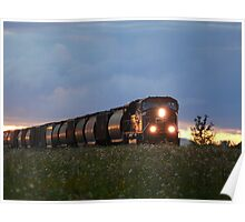 Iron Horse Sunset Poster