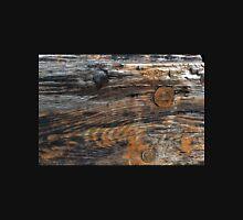 Aged rough wood background Unisex T-Shirt