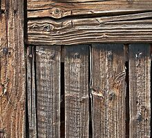 Aged rough wood background by Ron Zmiri