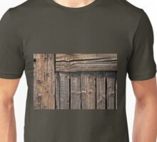 Aged rough wood background Unisex T-Shirt