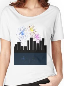 'Paint' fireworks Women's Relaxed Fit T-Shirt