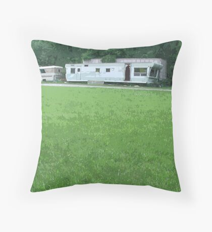 Childhood Vacations Get Dim Throw Pillow