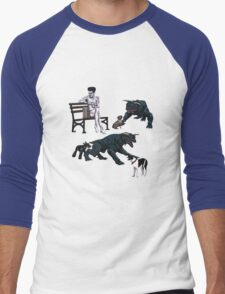 Gozer at the Dog Park Men's Baseball ¾ T-Shirt