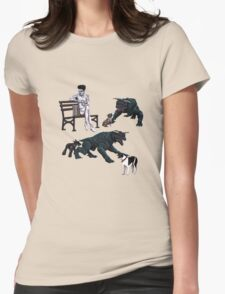 Gozer at the Dog Park Womens Fitted T-Shirt