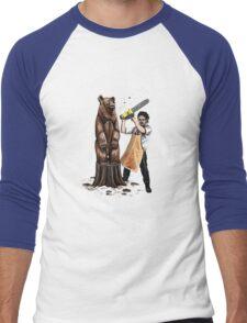 Leatherface's Secret Hobby Men's Baseball ¾ T-Shirt