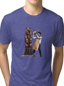 Leatherface's Secret Hobby Tri-blend T-Shirt