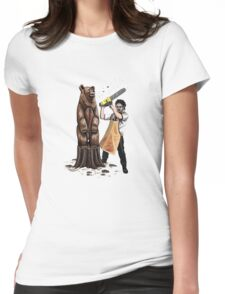 Leatherface's Secret Hobby Womens Fitted T-Shirt