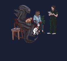 Alien Takes Jonesy to the Vet Kids Tee