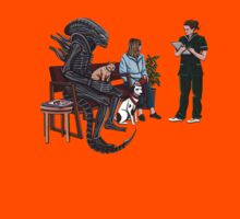 Alien Takes Jonesy to the Vet Kids Tee